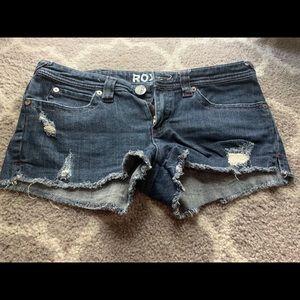 Roxy distressed shorts